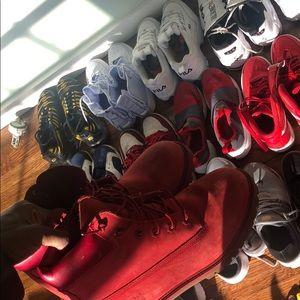 Timberland Shoes - Red Timbs ( gradeschool sz7 )